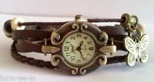 CUTE DIAL VINTAGE BRACELET WATCH FOR WOMEN -  BROWN - FREE SPARE BATTERY