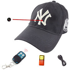 Full HD 8GB Spy Cap Hat Remote Hidden Wireless Hidden DVR Spy Cam Video Camcorde