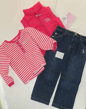 NEW BABY PHAT 2 PIECE OUTFIT 24 MONTHS PINK VEST JACKETOP JEANS AUTHENTIC
