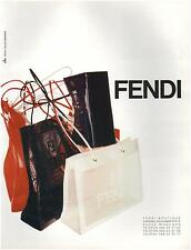 ▬► PUBLICITE ADVERTISING AD Sac Bag FENDI Photo Gilles Bensimon 1996