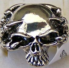 CLAWS ~ HOLDING ~ SCULL ~ S/STEEL ~ SIZE:9 ~ RING -- (GREAT_GIFT)
