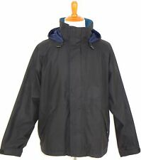Lands End Hooded Jacket with Gore Tex Navy Mens  L