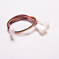 2x 3 Pin PC Case Fan Power Splitter Cable Lead 1 Female to 2 Male Motherboard