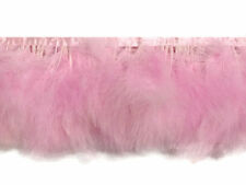 1 Yard - Light Pink Marabou Turkey Fluff Feather Fringe Trim