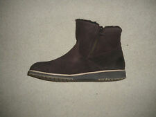 Offer - New Emu Beach Mini Women's Chocolate Suede Leather Zip Ankle Boot UK 6.5