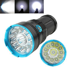 SKYRAY 12 x CREE XM-L T6 LED 32000Lm Tactical 18650 Torch Lamp 3Modes Flashlight