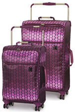 "IT Luggage World's Lightest 2 Piece Spinner Set (24"" & 30"") - Ombre Spot Berry"