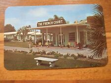 Old Vintage Postcard The French Court Ocala Florida James French A.M. Johnson