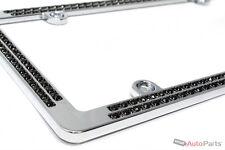 Chrome Black Diamond Bling Custom Metal License Plate Frame for Auto-Car-Truck