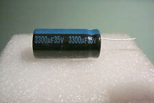3300UF 35V 3300MFD LOT OF 5 JAMICON RADIAL CAPACITORS 105c SHIPS FREE FROM USA