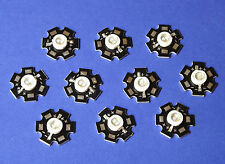 10 X 5W 365nm UV POWER LED on HEATSINK Kühlkörper Emitter  5mm Geldschein Money