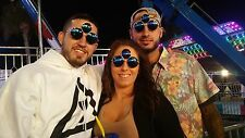 TRIPPY THIRD EYE SUNGLASSES for MEN WOMEN Rave Festival Party Garnet EDM Eyewear