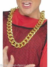 Mens Chunky Gold Chain Necklace Gangster Lemon Mr T Rapper BA Fancy Dress Bling
