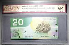 CANADA $20 2006 EZG(9.720-9.990M) - REPLACEMENT - BCS Graded - CHOICE UNC 64