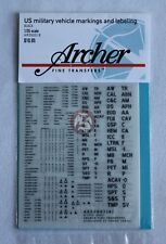 Archer 1/35 US Military Vehicle Generic Markings and Labeling (Black) AR35001B