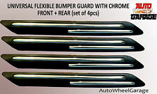 Bumper Protection Flexible Guard for Chevrolet Beat-Chrome inserts-set of 4