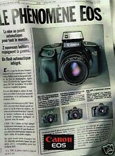 Publicité advertising 1988 Appareil photo Canon EOS