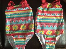 Baby Girls Age 9-12 Months Bright Summer Swimming Costume Bundle