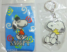 Snoopy Dog & Woodstock Mobile Phone, MP3, iPod, Camera pouch & Key Ring Gift Set