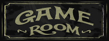 Game Room Metal Street Sign, Billiards, Poker, Gaming, Mancave, Den, Wall Décor
