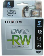 20-Pak FujiFilm 8cm Mini DVD-RW 1.4GB 30-Min in Mini Jewel Case fits Sony/Canon