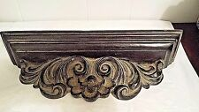 """Matching Pair Decorative Resin Wall Shelves Ornate Scroll & Shell 17 1/2""""L"""