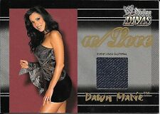 2003 Fleer WWE Divine Divas With Love Dawn Marie Event Used Clothing Relic Card