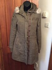 BILLABONG Khaki Green Parka Style Coat M Hardly Worn