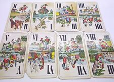 Vintage playing cards antique Piatnik Tarock 42 cards w tax stamp