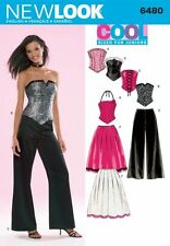 New Look Pattern 6480 Juniors Cool Bustier Tops Flared Wide Leg Pants Size 3-14