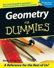 Geometry for Dummies® by Wendy Arnone (2001, Paperback)  FINAL EXAMS!!!