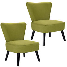 Set of 2 Armless Accent Dining Chair Modern Living Room Furniture Fabric Wood