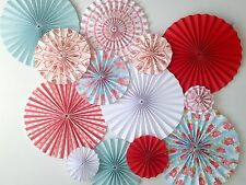 paper pinwheel fan decorations hanging backdrop kit