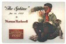 Saturday Evening Post The SPHINX by Norman Rockwell MOTION Lenticular Postcard