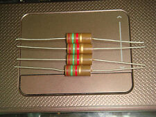 4 PIECES MADE IN JAPAN RIKEN OHM RM2 1.5K +/-5% 2W AUDIO GRADE CARBON RESISTOR