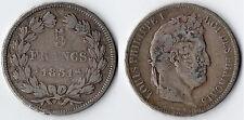 MONNAIE / ECU DE 5 FRANCS LOUIS PHILIPPE DE 1831 B @ ROUEN @ SILVER ARGENT @ TOP