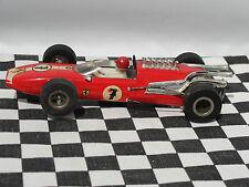 Fleischmann ferrari #7 rouge années 1960 1:32 utilisé carton