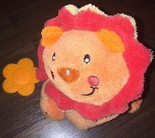 Baby One Supa Fupa Katze Löwe Tiger Orange Rot Beißring Plüschtier Kuscheltier