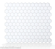 Smart Tiles Hexago 24.46 cm x 28.60 cm Peel & Stick Mosaic Tile in White
