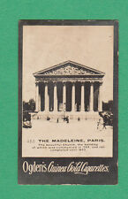OGDENS  GUINEA  GOLD  -  SCARCE BUILDING CARD  - THE  MADELEINE,  PARIS  - 1900