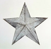Vintage look~Medium wooden white nautical hanging star wall art-39cm wide NEW