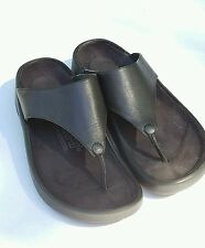 TATAMI BIRKENSTOCK BLACK LEATHER THONG SANDAL 37 EU = 6 - 6.5 C D MEDIUM