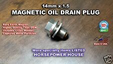 14mm US MADE MAGNETIC OIL DRAIN PLUG New HONDA CB1100 GL1800 VT600 VT750C 07-15