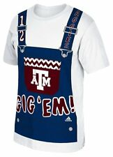 "Texas A&M Aggies Addias NCAA ""Aggie Overalls"" T-shirt XXL"