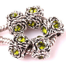 HOT 5pcs Tibetan silver Czech spacer beads fit Charm European Bracelet DIY AR80