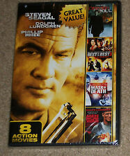 8-Film Action Pack Volume 3 DVD New Seagal Lundgren Norris