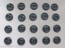 20 X FISHEYE 2 HOLE BABY BUTTON SIZE 22 NAVY