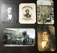 President Abraham Lincoln Civil War Lot Of 5 Christmas 16 Special TinType C712NP