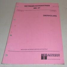 Werkstatthandbuch Peugeot 406 605 Boxer Überholung Getriebe ME 5T Stand 02/1991