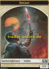 2x Spielstein - Soldat (Token - Soldier) Magic 2015 M15 Magic